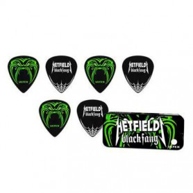 Púas Dunlop Hetfield Black Fang 1.14mm.