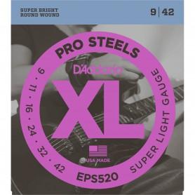 Cuerdas Eléctrica D´Addario EPS520 Pro Steels 09-42