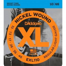 Cuerdas Eléctrica D´Addario Nickel Wound EXL110 10-46