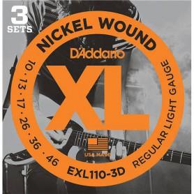 Cuerdas Eléctrica D´Addario EXL110-3D 10-46 3 sets