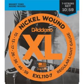 Cuerdas Eléctrica D´Addario EXL110-7 10-59 7 Cuerdas