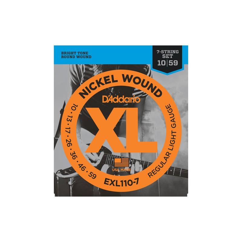 Cuerdas-Eléctrica-D´Addario EXL110-7 10-59 7 Strings