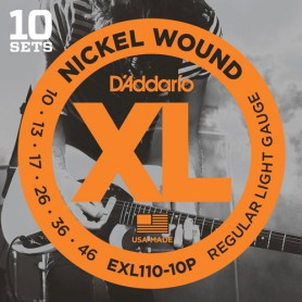 D´Addario EXL110-10P 10-46 Electric Strings 10 Set
