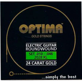 Cuerdas Eléctrica Optima Gold Strings 10-46