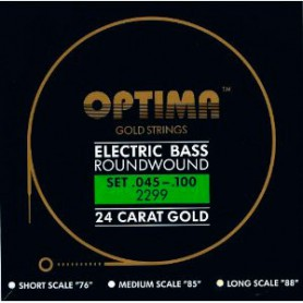 Optima Gold Electric Bass Guitar Strings 45-100