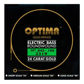 Cuerdas Bajo Optima Gold Strings 45-105