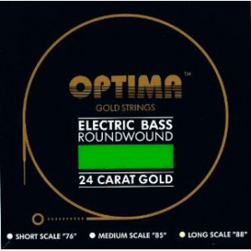 Optima Gold Electric Bass Guitar 5 Strings 45-125