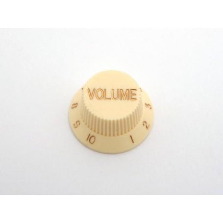 Botón de Potenciómetro de Volumen Crema para Strat