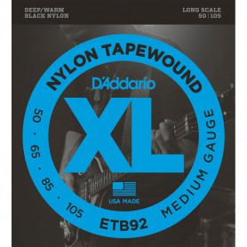 D´Addario ETB92 Black Nylon Tapewound Bass Strings 50-105