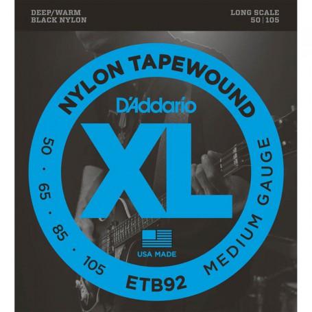 Cuerdas Bajo D´Addario Nylon Tapewound ETB92 50-105 Medium Gauge