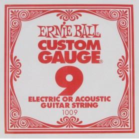 Cuerda Suelta Ernie Ball 009 Plana Eléctrica