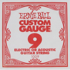 Ernie Ball 09 Single Plain Electric/Acoustic Guitar String