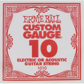 Ernie Ball 10 Single Plain Electric/Acoustic Guitar String