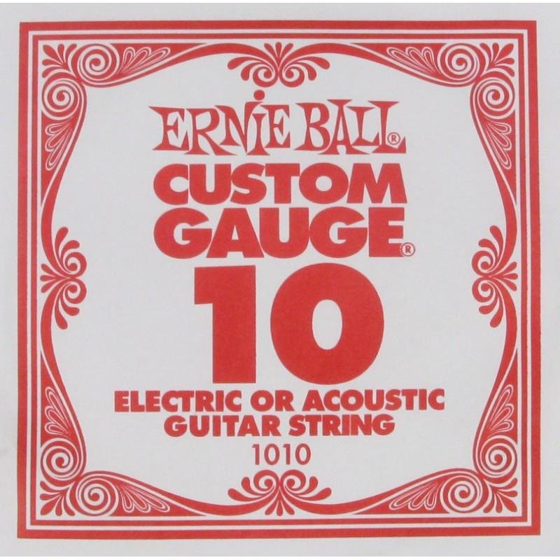 Cuerda Suelta Ernie Ball 010 Plana Eléctrica