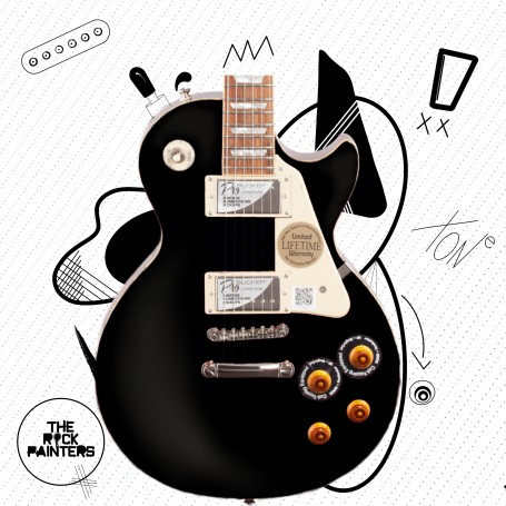The Rock Painters Black Gloss Nitrocellulose Guitar Lacquer
