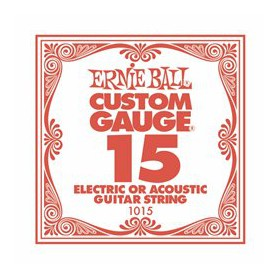Ernie Ball 15 Single Plain Electric-Acoustic Guitar String