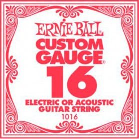 Cuerda Suelta Ernie Ball 016 Plana Eléctrica-Acústica