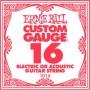 Cuerda Suelta Ernie Ball 16 Plana Eléctrica-Acústica
