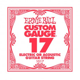 Ernie Ball 17 Single Plain Electric/Acoustic Guitar String