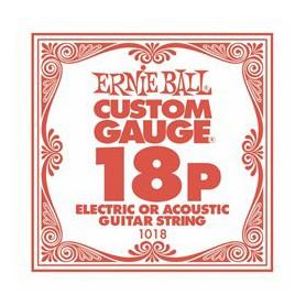 Cuerda Suelta Ernie Ball 18 Plana para Eléctrica-Acústica