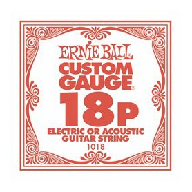 Ernie Ball 18 Single Plain Electric/Acoustic Guitar String