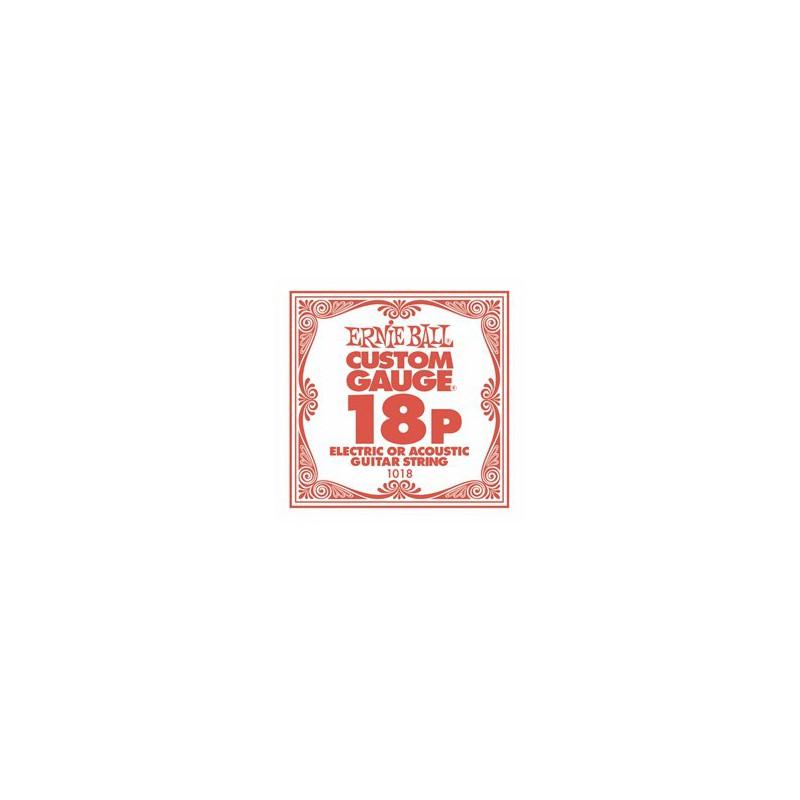 Cuerda Suelta Ernie Ball 018 Plana para Eléctrica-Acústica