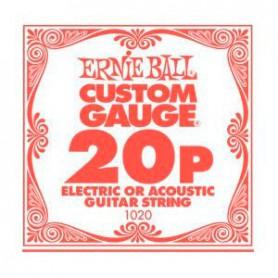Cuerda Suelta Ernie Ball 20 Plana para Eléctrica-Acústica