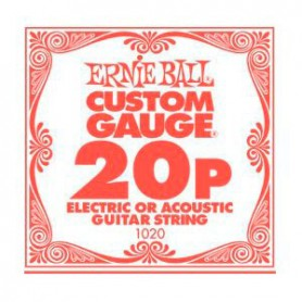 Ernie Ball 20 Single Plain Electric-Acoustic Guitar String