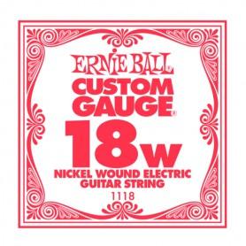 Corda Solta Elèctrica Ernie Ball Nickel entorxada 018