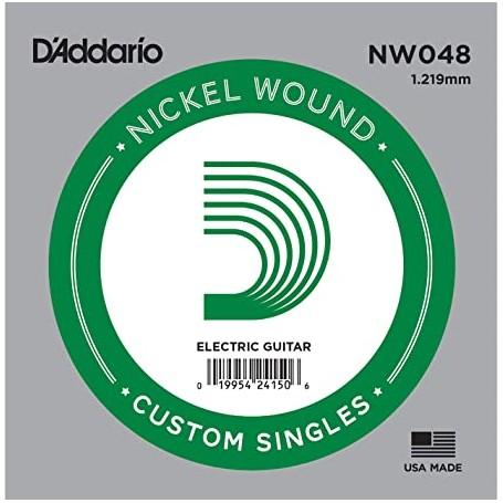 Cuerda suelta D´Addario NW048 entorchada para eléctrica