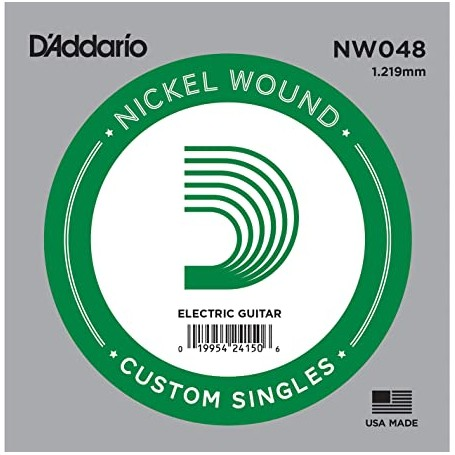 D'Addario Nickel Wound Electric Single String NW048