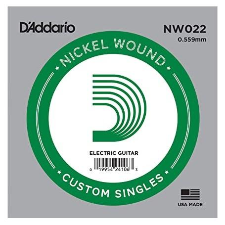 Cuerda suelta D´Addario NW022 entorchada para eléctrica