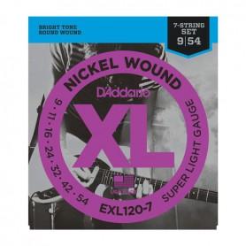 Cuerdas Eléctrica D´Addario EXL120-7 09-54 7 Cuerdas