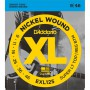 Cuerdas Eléctrica D´Addario EXL125 Nickel Wound 09-46 Super Light Top/Reg. Bottom