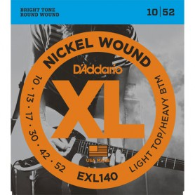 Cuerdas-Eléctrica-D´Addario EXL140 10-52 Light Top Heavy Bottom