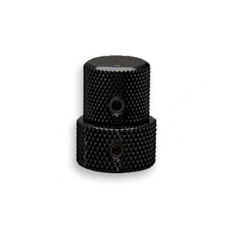 Gotoh Stacked Pot Knob Black