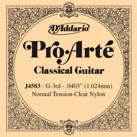 Cuerda Suelta D´Addario ProArte J4503 3ª G/Sol