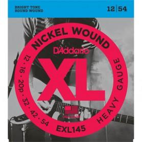 Cuerdas Eléctrica D´Addario EXL145 12-54 Heavy Gauge