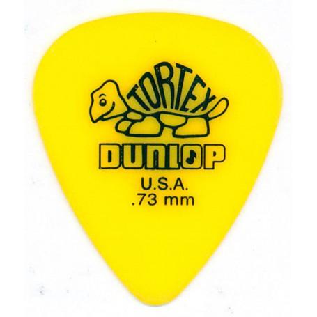 Jim Dunlop Tortex Flow Plectrum Player Pack Yellow 12 Pack 0.73mm