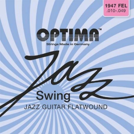 Optima Chrome Flatwound Jazz Swing Electric 10-49