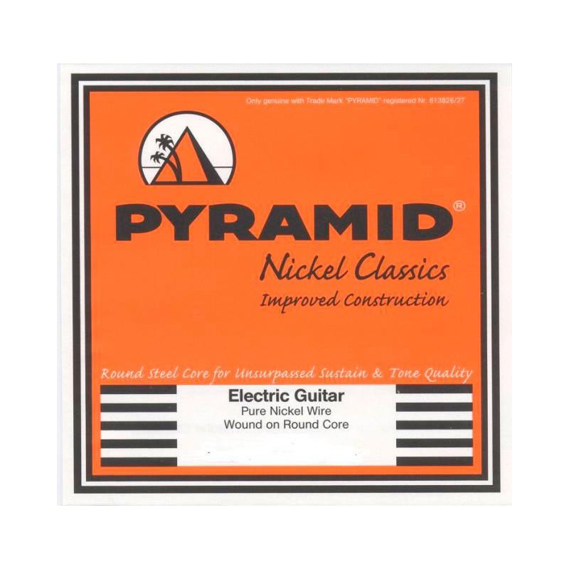 Cuerdas Eléctrica Pyramid Pure Nickel Classics-Round Core 09-42