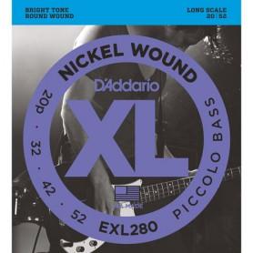 Cuerdas Bajo D´Addario EXL280 Nickel Wound Piccolo Bass 20-52