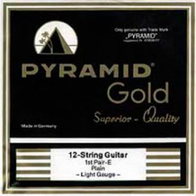 Cordes Elèctrica Pyramid Gold Flatwound 12 String 310/12 10-465
