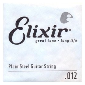 Elixir Nanoweb Electric Plain Single String 012