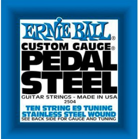 Cuerdas Pedal Steel Ernie Ball E9 Tuning 10 String Set 2504
