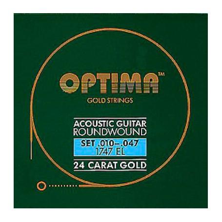 Cuerdas Acústica Optima Gold 10-47