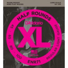 Cordes de Baix D´Addario ENR71 Half Rounds 45-100 Semi Flatwound