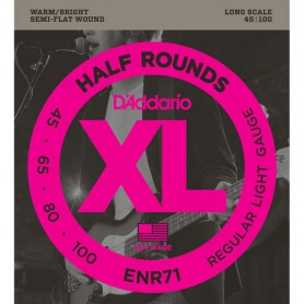 D´Addario ENR71 Half Rounds Semi Flatwound 45-100 Bass Strings