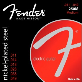 Cordes de Guitarra Elèctrica Fender 250M Nickel Plated Steel Strings 11-49 Medium