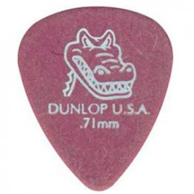 Púas Dunlop Gator Grip 0.71mm.